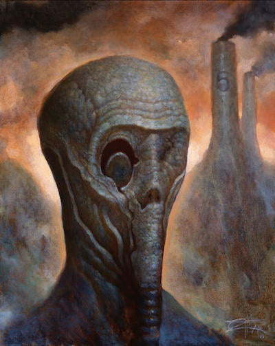 Effigy - Oil painting by Chet Zar