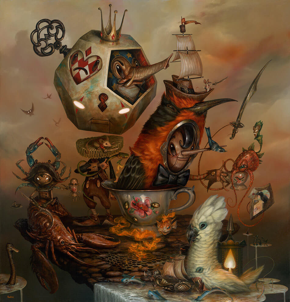 My Specialty Is Special Tea - Acrylic painting by Greg Craola Simkins
