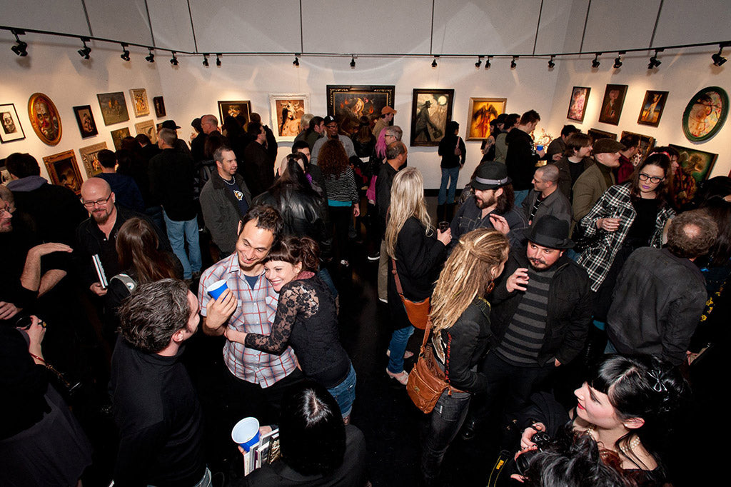 Jon Beinart and Corinne Beinart at the opening of Dystopia at Copro Gallery (2011)