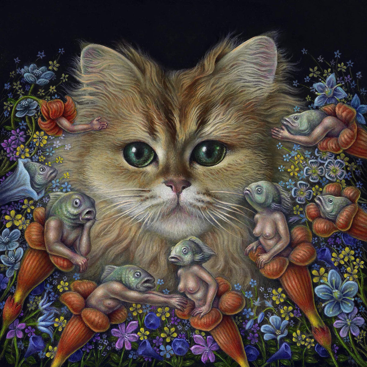 Jon Beinart's oil painting, There's Something in the Milk