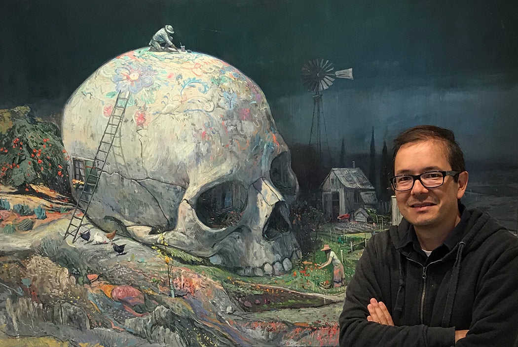 Shaun Tan at Beinart Gallery during his solo exhibition, Untold Tales
