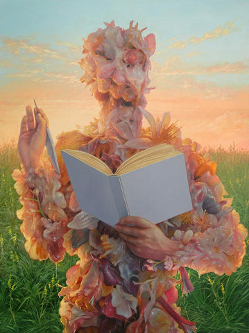 "Adrian Cox - ""Big Dreamer with an Ode to the Dawn"" - oil on panel - 45.7 x 61cm (18""x24"")"