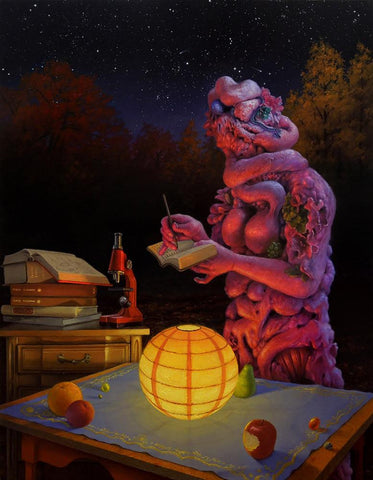 "Adrian Cox - ""Snake Gardener with Orrery"" - oil on canvas - 50.8 x 66cm (20""x26"")"