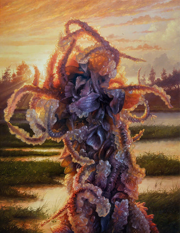 "Adrian Cox - ""Swamp Gardener at Sunset"" - oil on canvas - 50.8 x 66cm (20""x26"")"