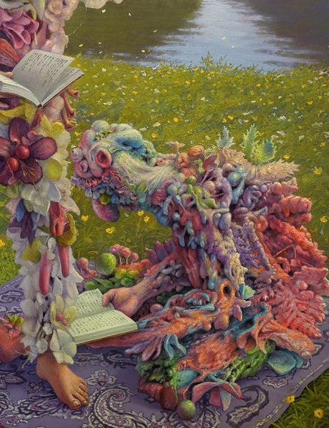 "Adrian Cox - ""The Poetry Reading"" - oil on canvas - 50.8 x 66cm (20""x26"")"