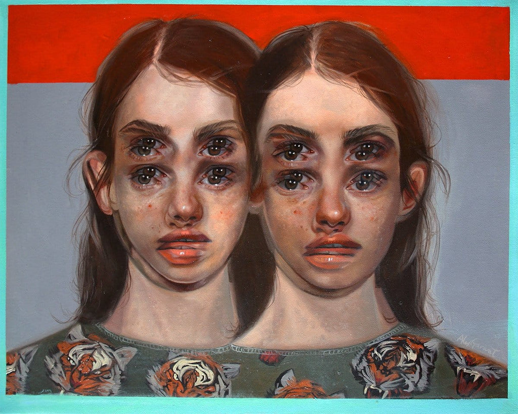 "Alex Garant - ""Final Exits""- oil on canvas - 50.8 x 40.6cm (20""x16"")"