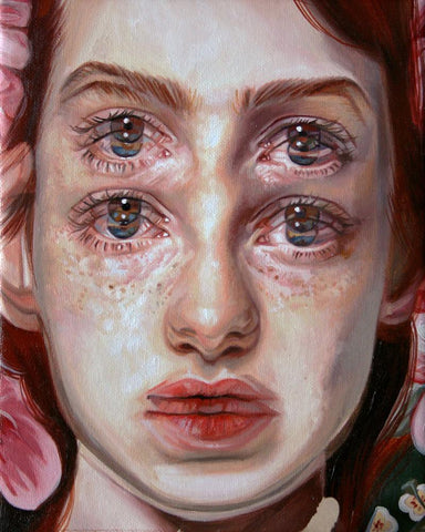 "Alex Garant - ""Garden""- oil on canvas - 20.3 x 25.4cm (8""x10"")"