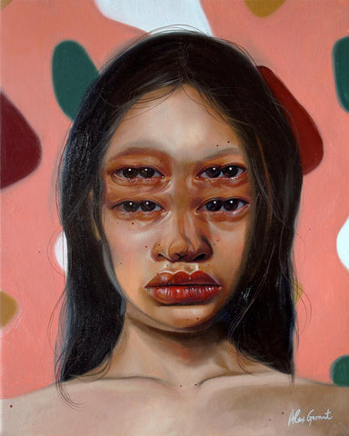 "Alex Garant - ""Great World""- oil on canvas - 40.6 x 50.8cm (16""x20"")"