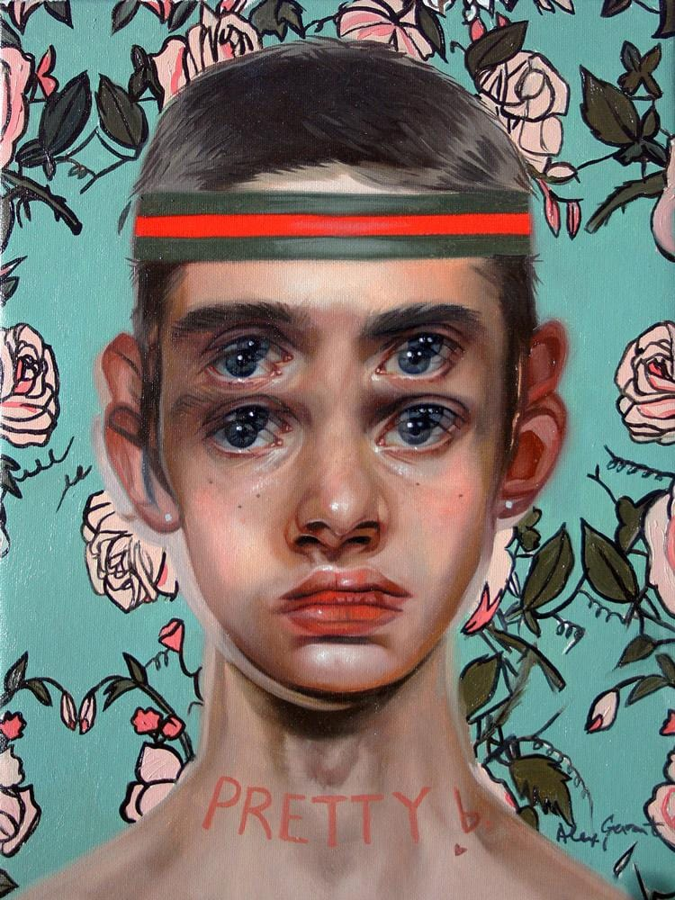 "Alex Garant - ""Pretty Boy""- oil on canvas - 30.4 x 40.6cm (12""x16"")"