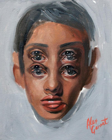 "Alex Garant - ""Study 1 ""- oil on canvas - 20.3 x 25.4cm (8""x10"")"