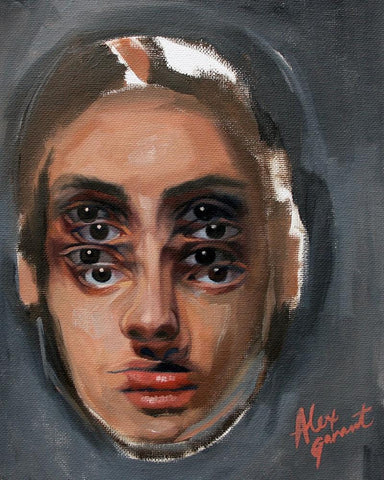 "Alex Garant - ""Study 3""- oil on canvas - 20.3 x 25.4cm (8""x10"")"