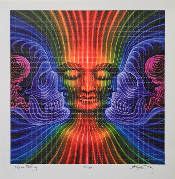 "Alex Grey - ""Inter Being"" - limited edition blotter art print of 100"