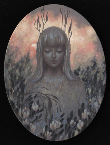 "Amy Sol - ""Dusk Light"" - oil on wood panel - 10.2 x 15.2cm (4""x6"")"