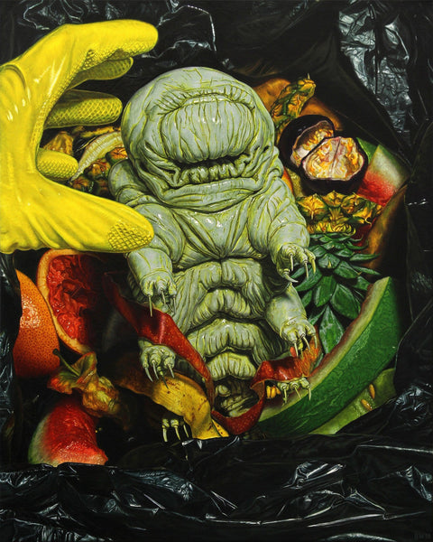 Beau White Tardigrade painting