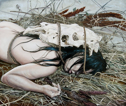 "Beau White - ""Hearse"" - oil on board - 70 x 60cm (27.6""x23.6"")"
