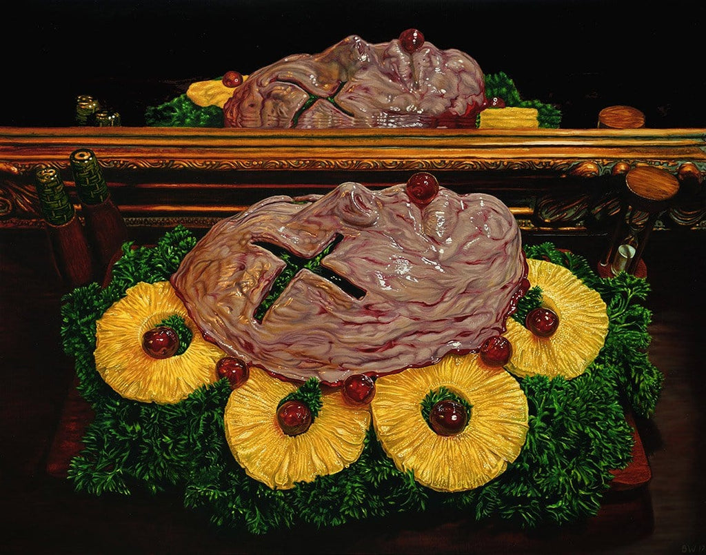 "Beau White - ""Still Death No.2"" - oil on board - 50 x 40cm (19.7""x15.7"")"