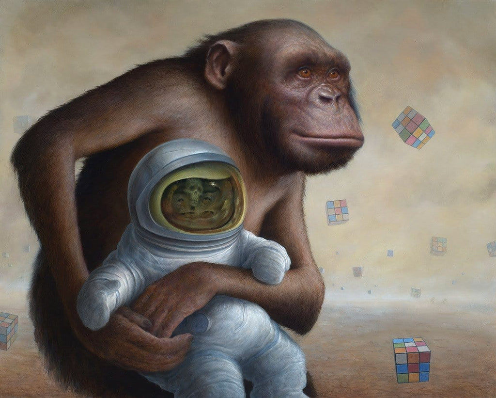 "Chris Leib - ""Mind Field"" - oil on board - 40.6 x 50.8cm (16""x20"")"