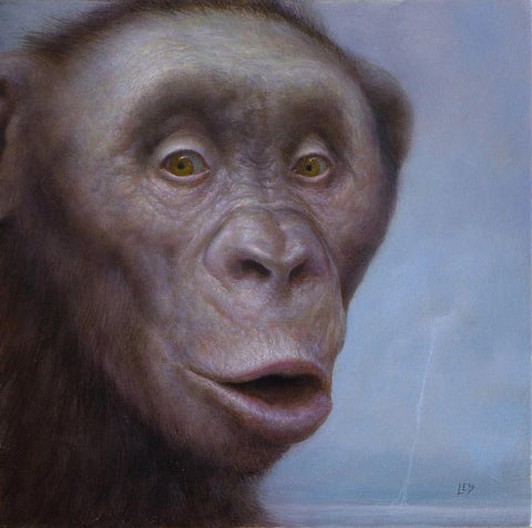 "Chris Leib - 'So So Beautiful' - oil on masonite - 20.3 x 20.3cm (8""x8"")"