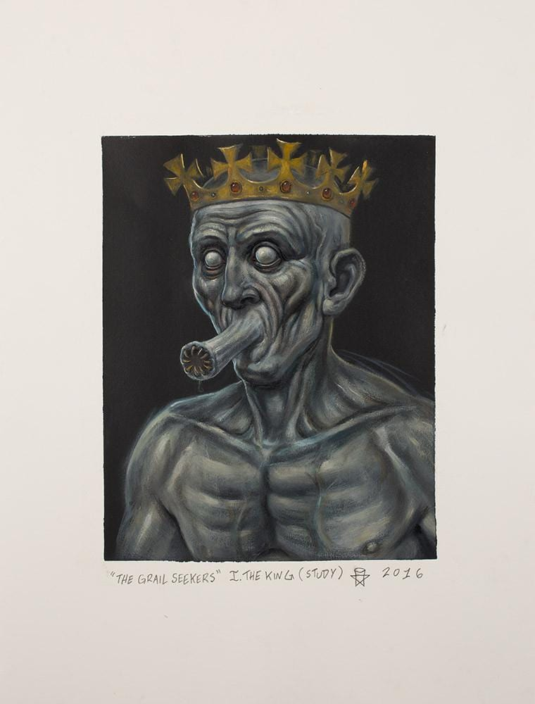 "Christopher Ulrich - ""The King oil study"" - oil on paper - 45.7 x 61.6cm (18""x24"")"