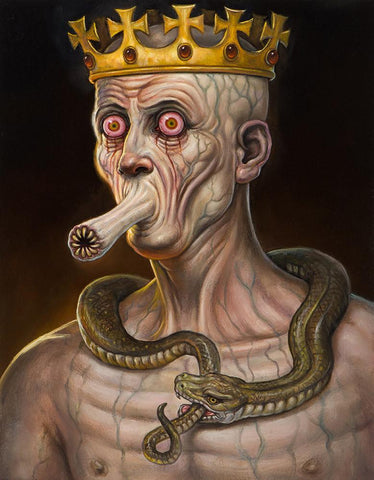 "Christopher Ulrich - ""The King"" - oil on board - 27.9 x 35.6cm (11""x14"")"