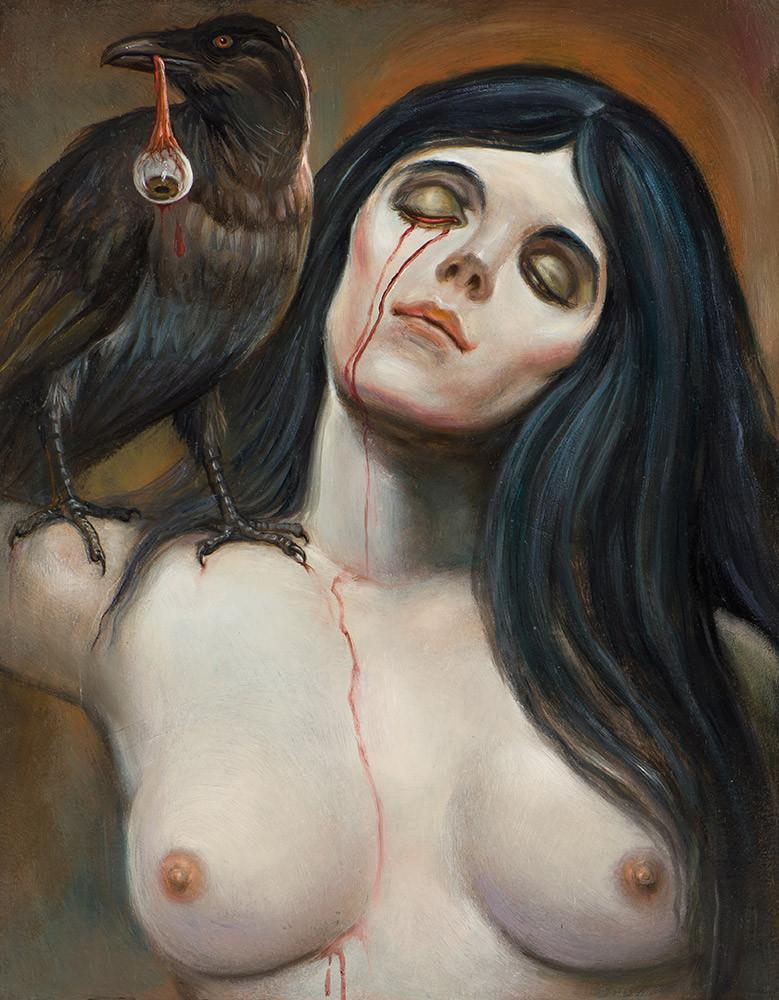 "Christopher Ulrich - ""The Maiden"" - oil on board - 27.9 x 35.6cm (11""x14"")"
