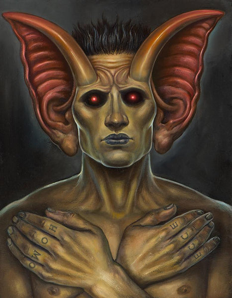 "Christopher Ulrich - ""The Prophet"" - oil on board - 27.9 x 35.6cm (11""x14"")"