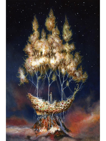 "Esao Andrews - ""Meridian"" - oil on panel - 20.3 x 30.5cm (8""x12"")"