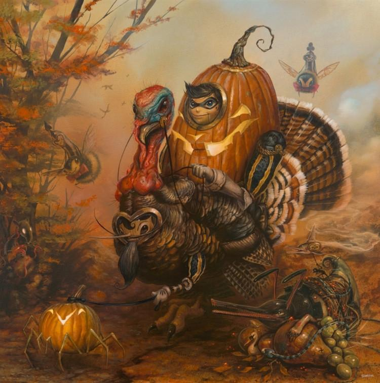 "Greg ""CRAOLA"" Simkins - ""The Gobbler"" - limited edition print"