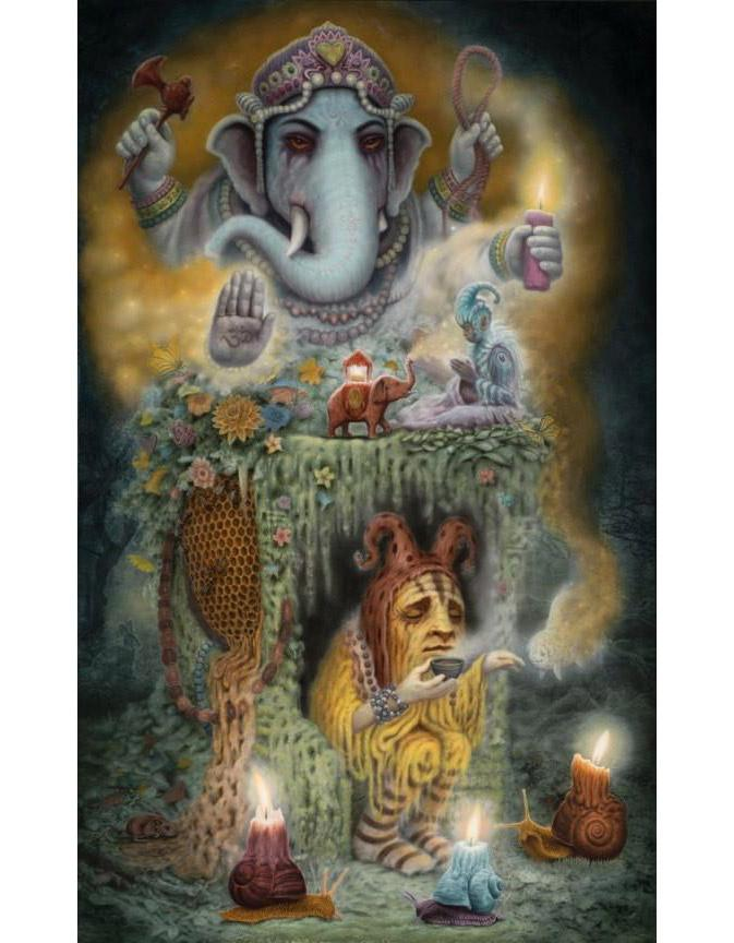 "Matt Dangler - ""Ganesha's Inner Garden"" - limited edition print of 20 - 43.2x55.9cm (17""x22"")"