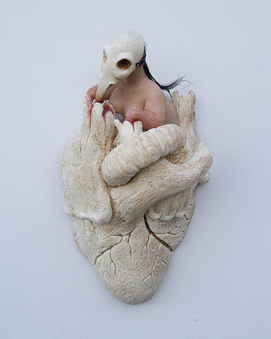 "Isabel Peppard - ""Cherub 1: The Discovery"" - silicone & resin - 25 x 12 x 10cm (9.8""x4.7""x3.9"")"