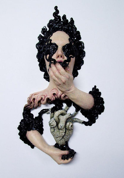 "Isabel Peppard - ""Gloomy Sunday"" - silicone & resin - 73 x 47 x 14cm (28.7""x18.5""x5.5"")"