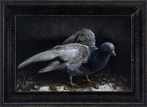 "Jean Labourdette (Turf One) - ""Diorama"" - acrylic on panel - 35.6 x 26.7cm (14""x10.5"")"