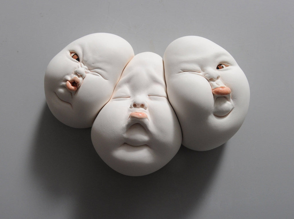 "Johnson Tsang - ""Wrong Friends"" - porcelain - 22 x 15 x 7cm (8.8""x6""x2.7"")"