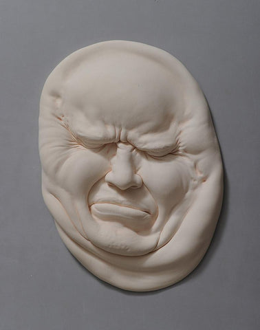 "Johnson Tsang - 'Lucid Dream Series - Against The Wall' - porcelain - 30 x 22 x 4cm (12""x8.5""x1.5"")"