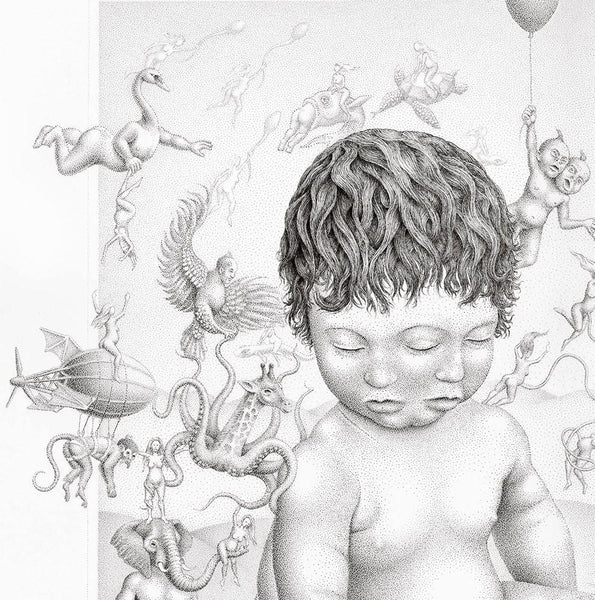 "Jon Beinart - ""The Garden of Umbilical Dreams"" - Ink on paper. 77 x 57cm (30.3""x22.4"") *price on enquiry"