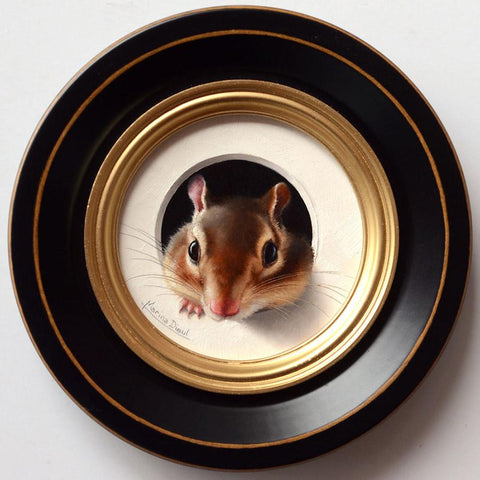 "Marina Dieul - 'Karma' - oil on panel - 10.2cm diameter (4"" diameter)"