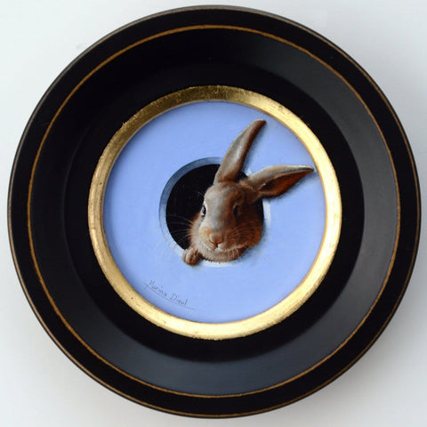 "Marina Dieul - ""Mini Lapin 2"" - oil on panel"