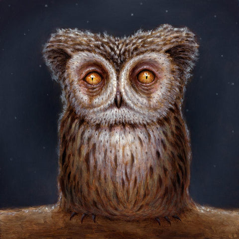 "Matt Dangler - ""The Little Kaowla"" - Oil on panel - 15.2 x 15.2cm (6""x6"")"