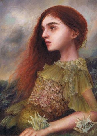 "Nom Kinnear King - ""Vilmaris"" - oil on wood - 12.7 x 17.7cm (5""x7"")"