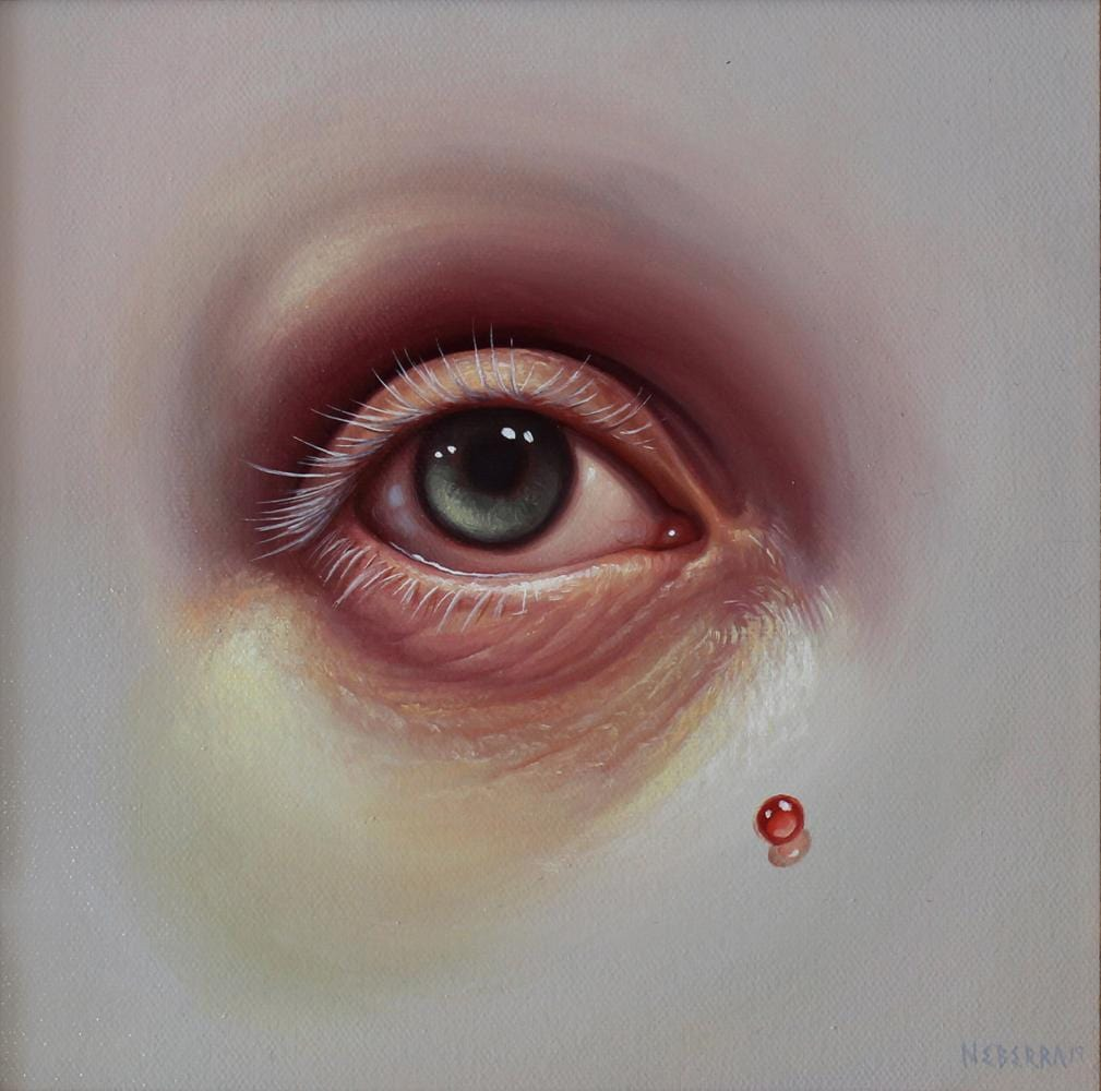 "Paul Neberra - ""Raw Observation"" - oil on canvas - 20 x 20cm (7.8""x7.8"")"
