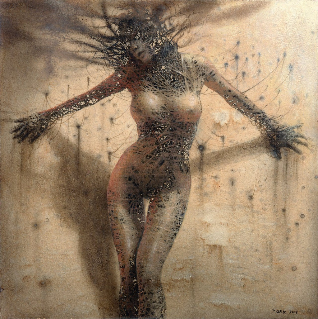 "Peter Gric - ""Reconfiguration IV"" - acrylic on fiberboard"