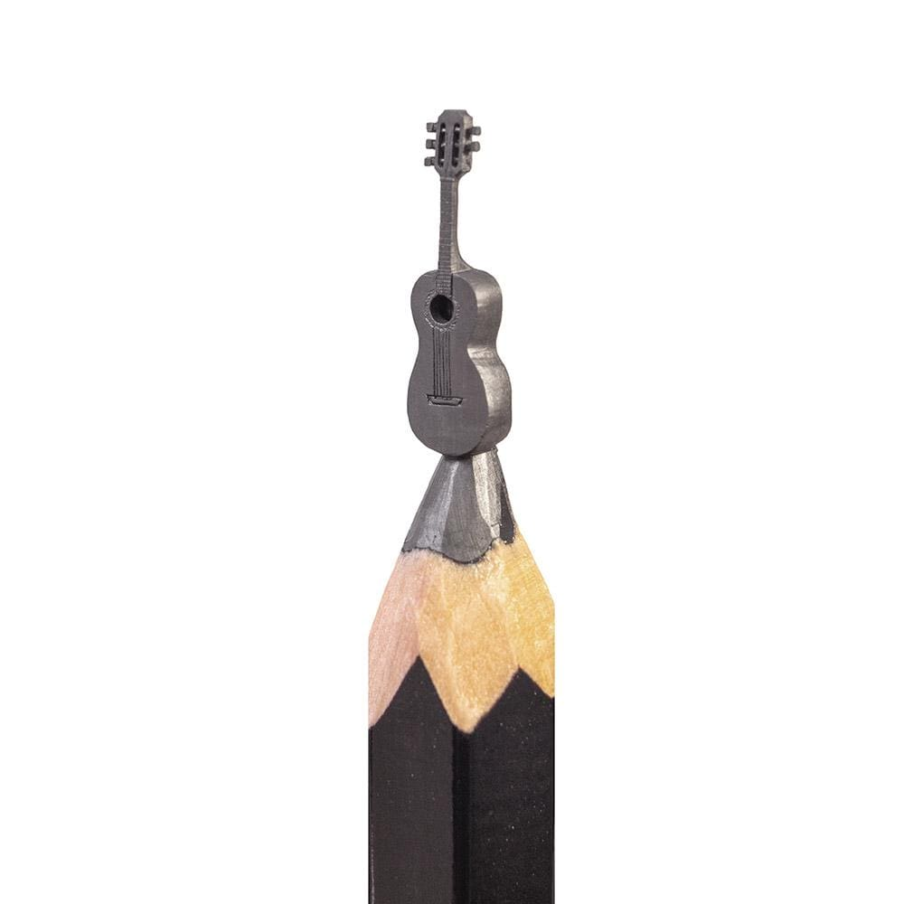 "Salavat Fidai - 'Guitar' - pencil micro-sculpture - 0.5cm (0.2"")"