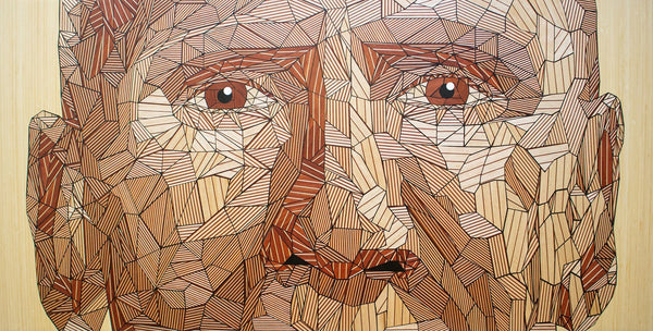 "Salvador Morales - ""Regret"" - Wood and epoxy"