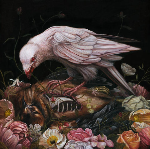 "Sam Yong - ""Ritual"" - oil on wood panel - 50 x 50 cm (19.7""x19.7"")"