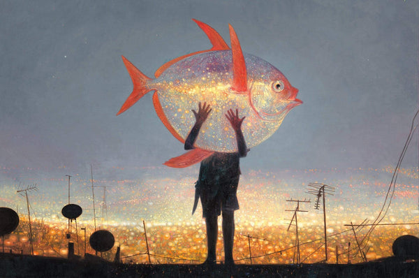 Shaun Tan print - Tales from the Inner City - Moonfish