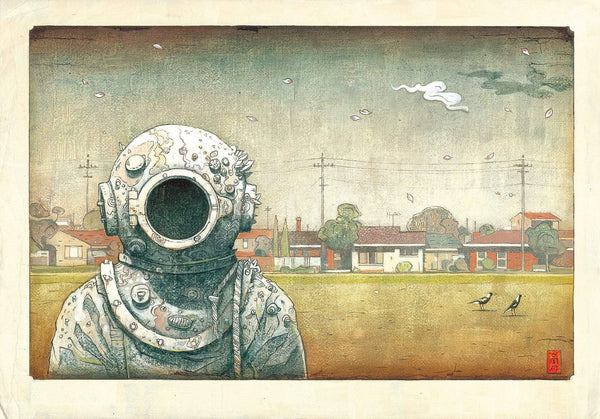 Shaun Tan print - The Visitor