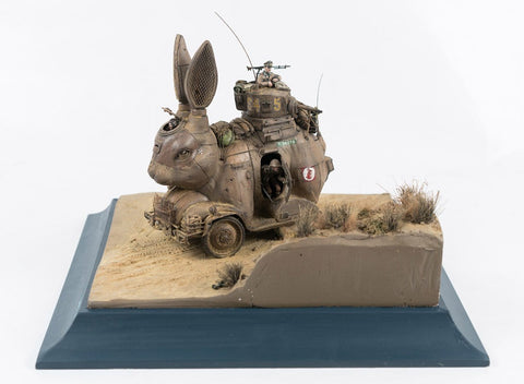 "Stephen Ives - ""Kaninchenwagon 3ToR(4K)"" - Mixed media Bricolage sculpture - 30 x 28 x 21cm  (11.8""x11""x8.3"")"