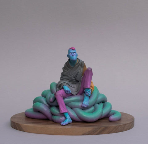 "Troy Coulterman - ""Still Got Some Fight""- painted resin - 36.8 x 25.4 x 24cm (14.5""x10""x9.5"")"