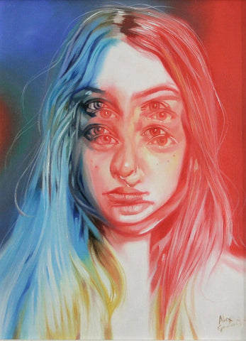 "Alex Garant - ""Way Up"" - oil on canvas - 22.8 x 30.5 cm (9""x12"")"