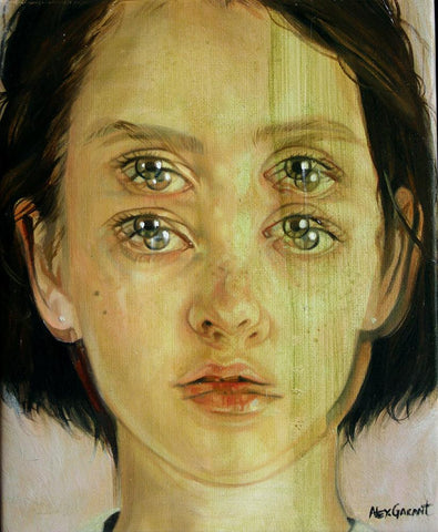 "Alex Garant - 'Envy' - oil on canvas - 20.3 x 25.4cm (8""x10"")"